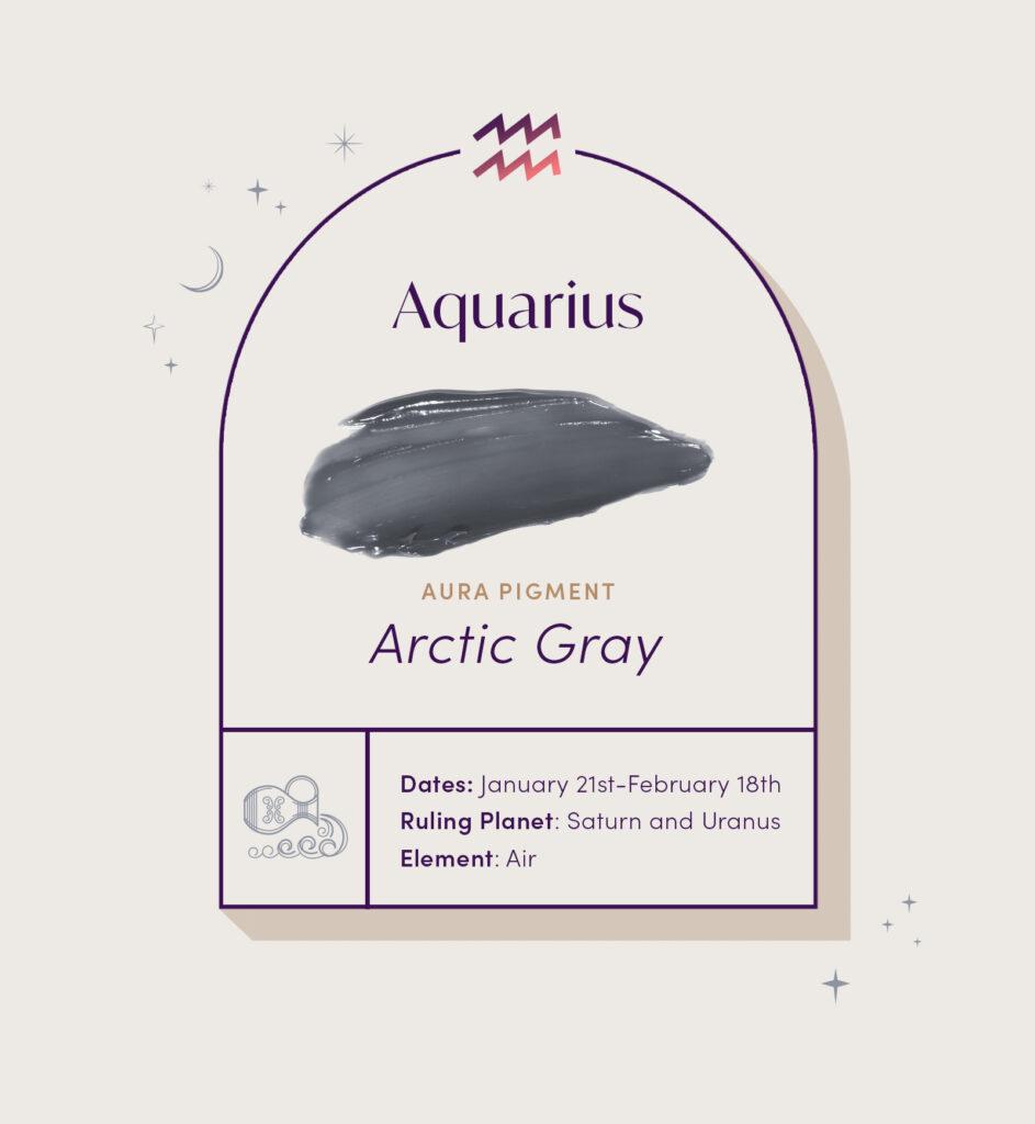 AURA hair care pigment color for Aquarius zodiac sign