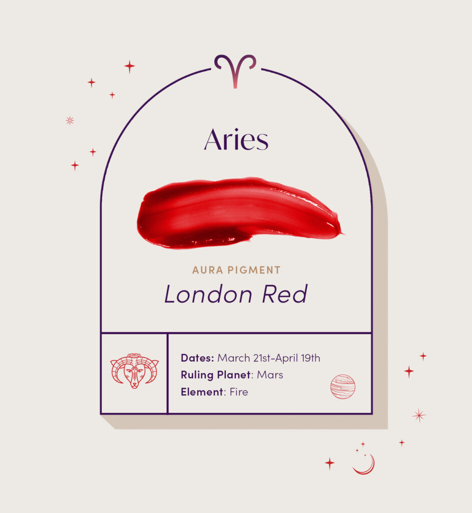 AURA hair care pigment color for Aries zodiac sign
