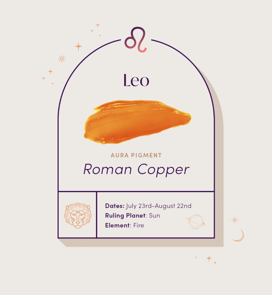 AURA hair care pigment color for Leo zodiac sign