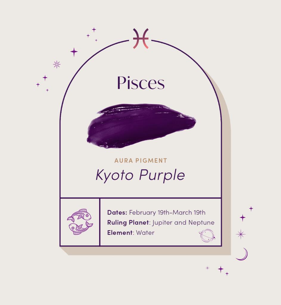 AURA hair care pigment color for Pisces zodiac sign