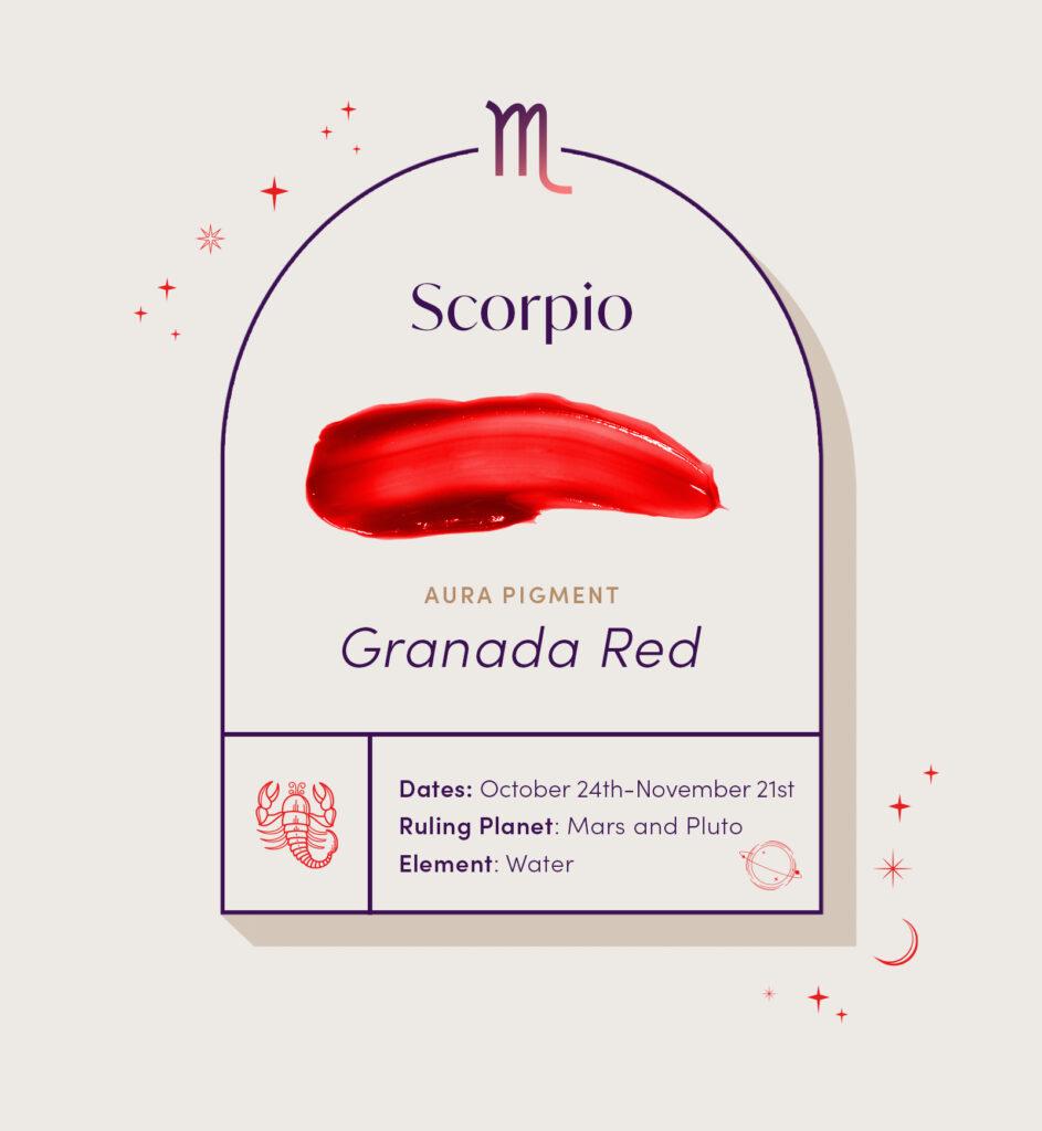 AURA hair care pigment color for Scorpio zodiac sign