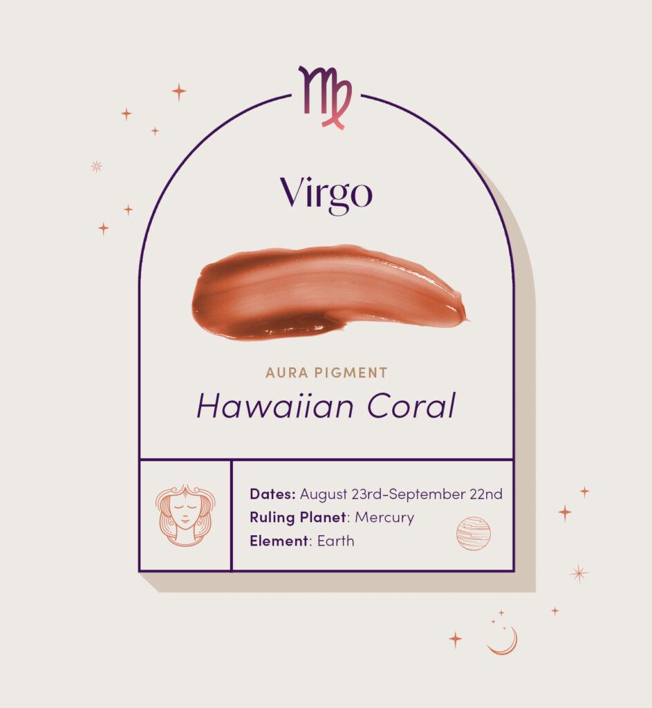 AURA hair care pigment color for Virgo zodiac sign
