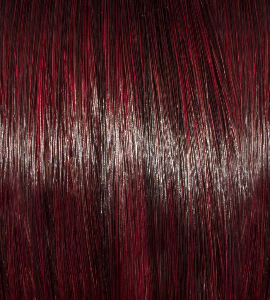 London Red on Dark Brunette Hair