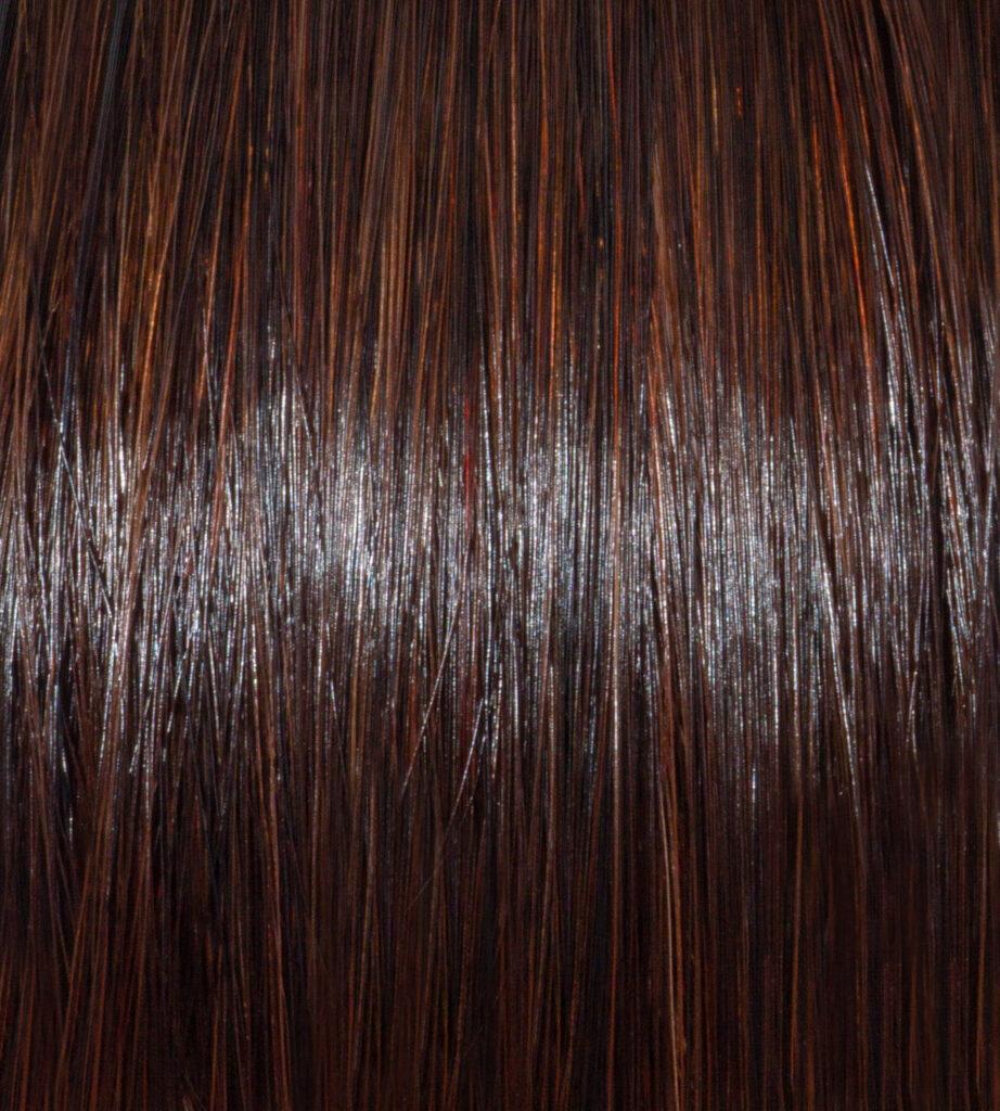 Saharan Copper on Dark Brunette Hair Swatch
