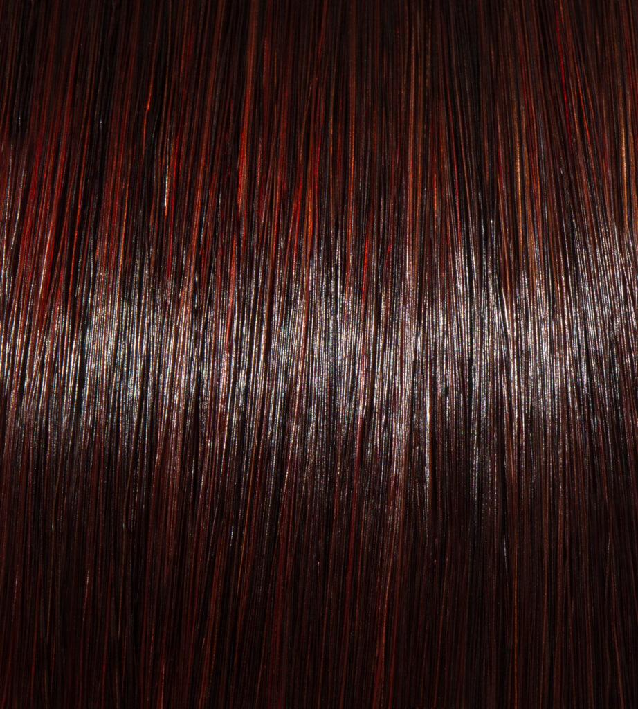 Red Mahogany Masque on Dark Brunette Hair
