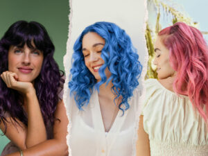 Collage of three girls with pigmented hair