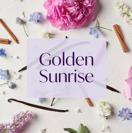 AURA aroma Golden Sunrise complete with sweet vanilla and orange.