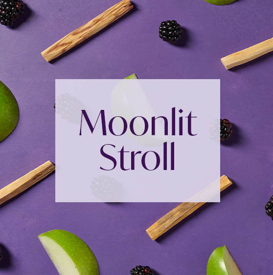 AURA's Midnight Stroll aroma with notes of apple and blackberry.