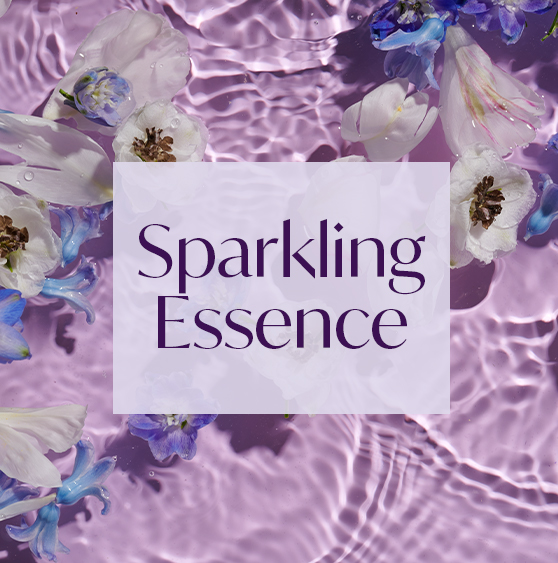 AURA Aroma Sparkling Essence with notes of lotus, cool mint, and musk.